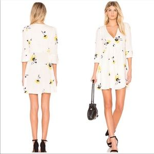 Free People Time On My Side Floral Shift Dress NWT